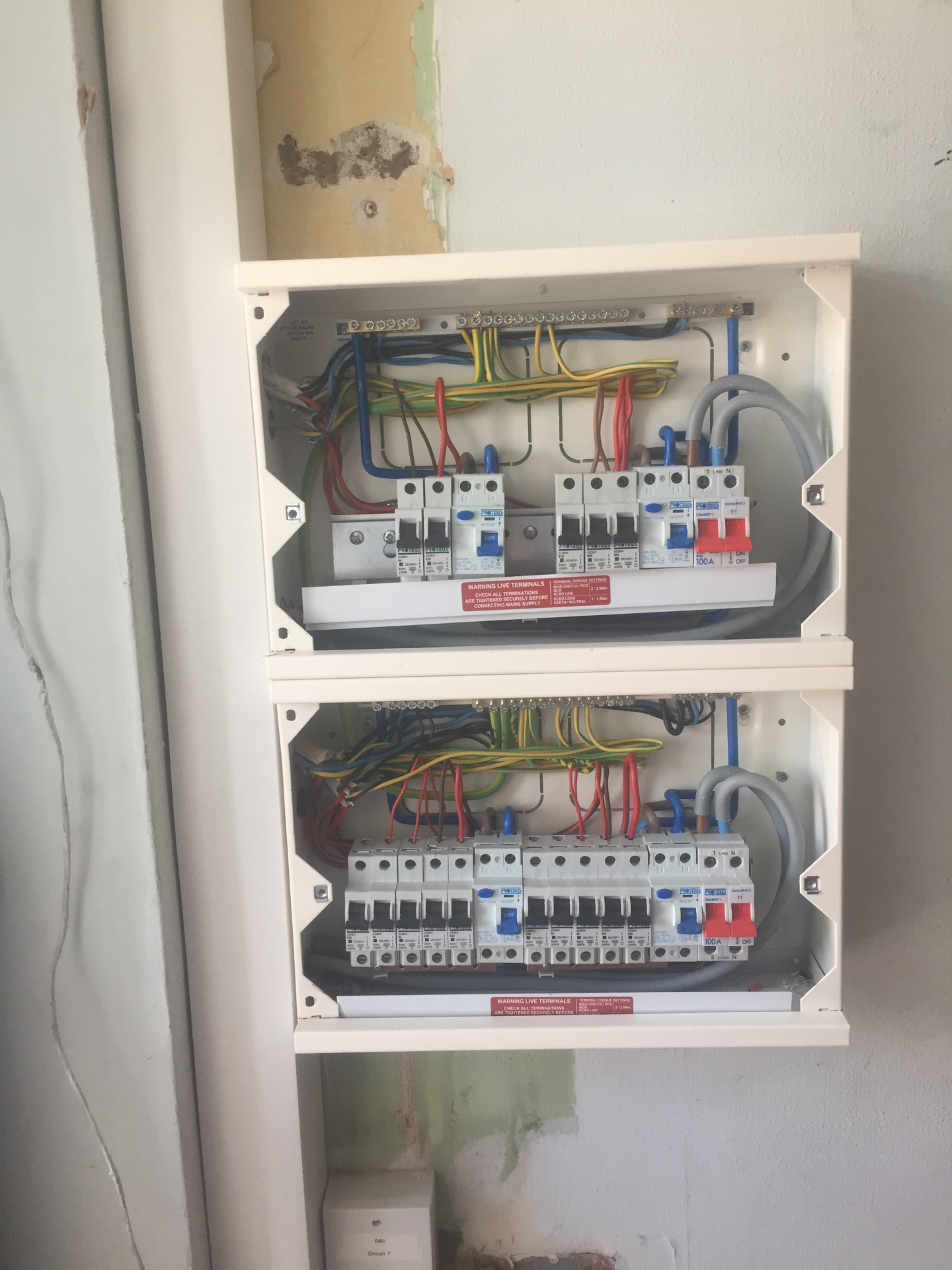 During - Domestic Consumer unit replacement.