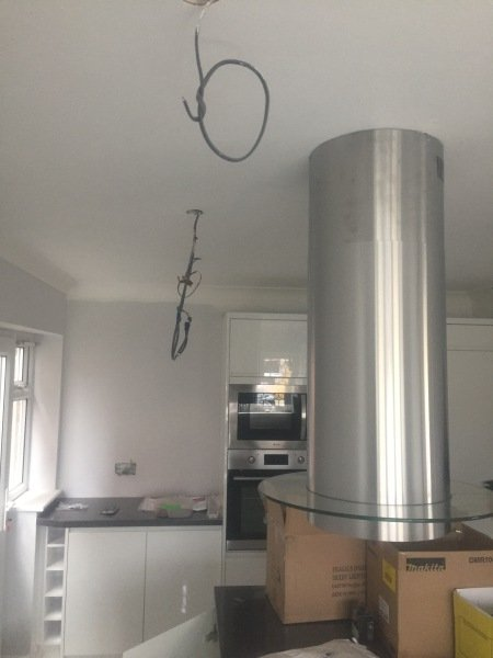 Nearly completed kitchen rewire