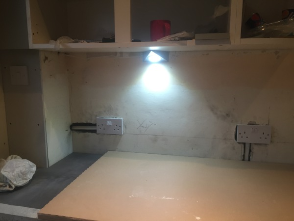 Half way through a kitchen re-fit - LED under cupboard lighting